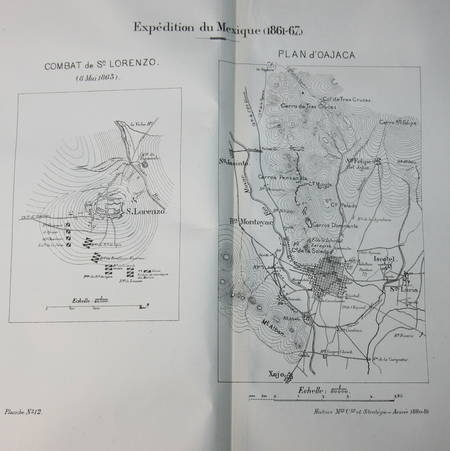 ATLAS de l'Ecole supérieure de GUERRE - 1880-1881 - Relié - Photo 3 - livre rare