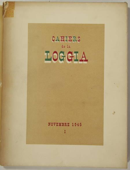 Cahiers de la loggia - 1945 - Eau-forte de Yves Alix - 1/20 - Photo 1, livre rare du XXe siècle
