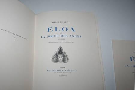 VIGNY - Eloa ou la soeur des anges - 1928 lithographies Raphaël Drouart - Photo 3, livre rare du XXe siècle