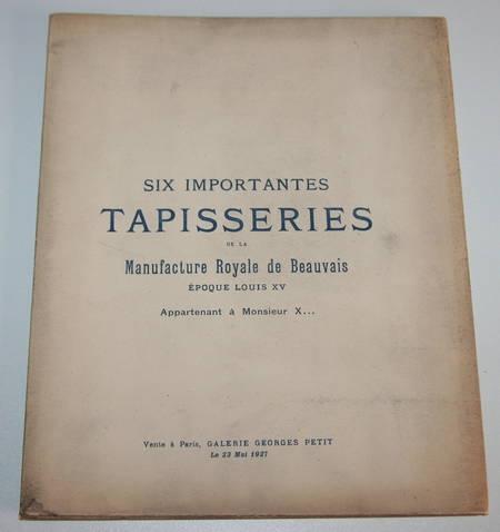 Catalogue de 6 importantes tapisseries de la manufacture de Beauvais - Louis XV - Photo 0 - livre d'occasion