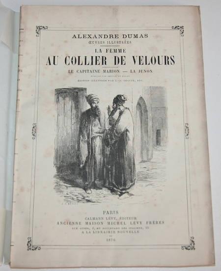 DUMAS (Alexandre) - La femme au collier de velours - 1876 - Photo 0 - livre d'occasion