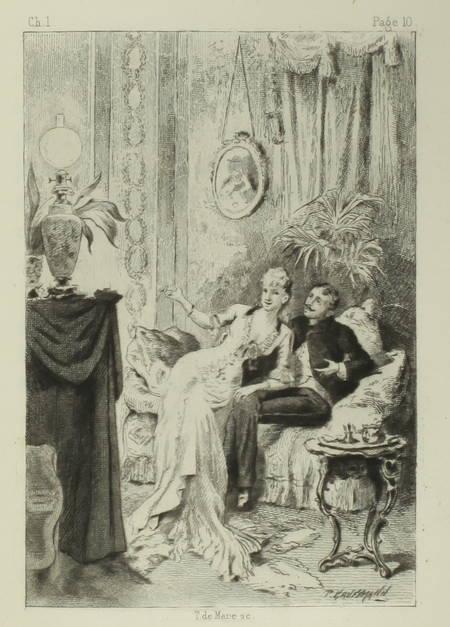 HALEVY (Ludovic) - Trois coups de foudre - 1886 - dessins de Kauffmann - Photo 0 - livre d'occasion