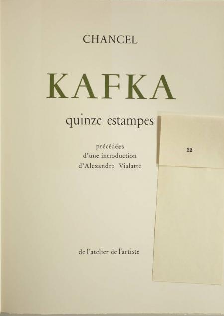 Kafka 15 estampes lithographiées couleurs de Chancel 1957 Signées et justifiées - Photo 2 - livre rare