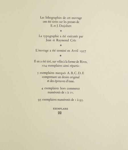 Kafka 15 estampes lithographiées couleurs de Chancel 1957 Signées et justifiées - Photo 3 - livre de collection