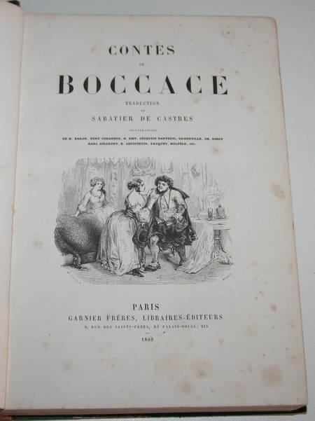 Contes de Boccace - 1869 - Illustré par Johannot, Grandville, Nanteuil, ... - Photo 2 - livre du XIXe siècle