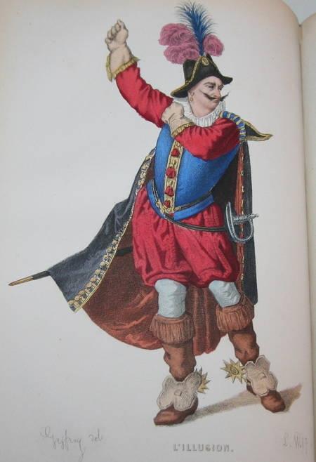 Théâtre de Corneille - 20 planches de portraits en couleurs - 1869 - Photo 0 - livre de collection