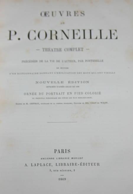 Théâtre de Corneille - 20 planches de portraits en couleurs - 1869 - Photo 2 - livre d'occasion