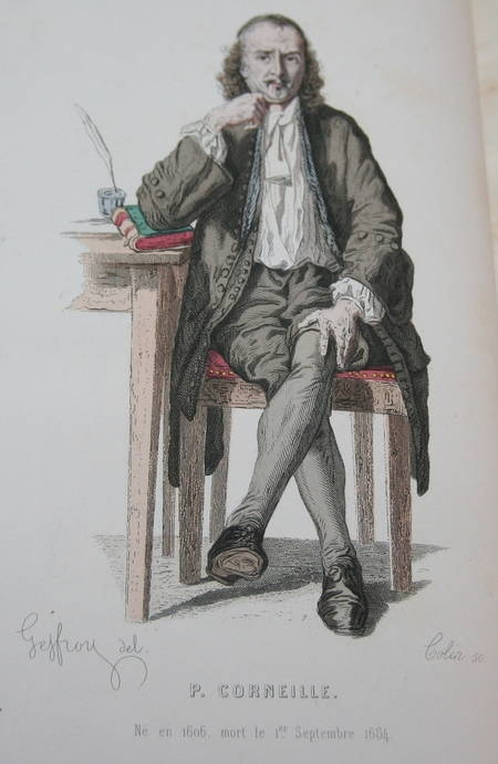 Théâtre de Corneille - 20 planches de portraits en couleurs - 1869 - Photo 3 - livre d'occasion