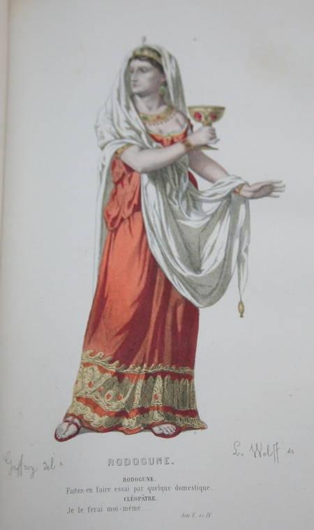 Théâtre de Corneille - 20 planches de portraits en couleurs - 1869 - Photo 4 - livre d'occasion