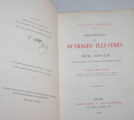 [Gravure sur bois] Brivois Bibliographie des ouvrages illustrés du XIXe - 1888 - Photo 1 - livre d'occasion