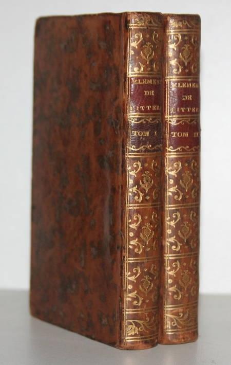 Batteux - Eléments de littérature - 1773 - 2 volumes - Photo 0 - livre du XVIIIe siècle