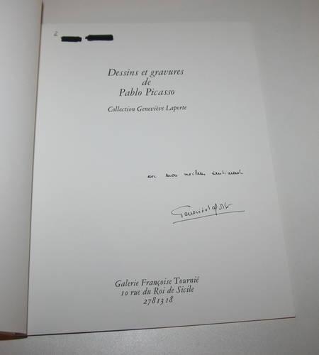 Dessins et gravures de Picasso - Signé par Geneviève Laporte - 1974 - Photo 1 - livre d'occasion
