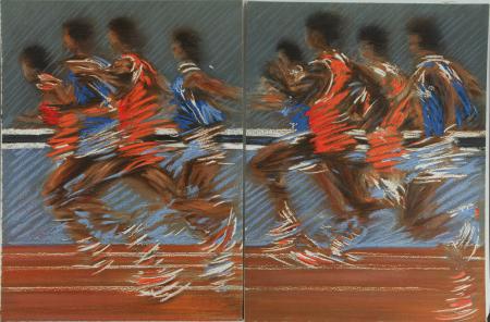 Les Olympiques. La Gloire du stade - Lithographies de Doutreleau - Photo 3, livre rare du XXe siècle