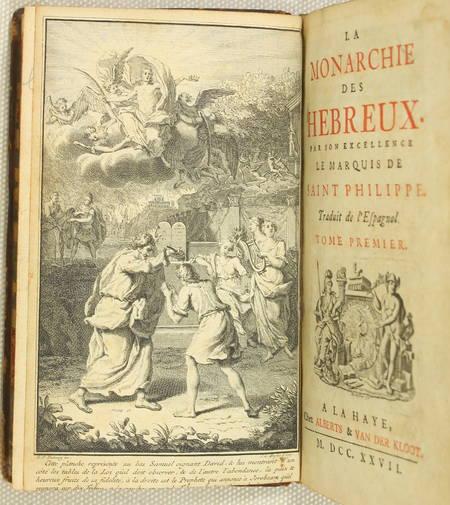 SAINT-PHILIPPE - La monarchie des hébreux - 1727 - 4 volumes - Photo 1 - livre du XVIIIe siècle