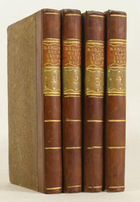 Mémoires pour servir à l'histoire de la vertu, journal d'une jeune dame 1763 4v - Photo 0 - livre rare