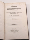 DUGALD-STEWART - Essais philosophiques Locke, Berkeley, Priesley ... 1828 - Photo 1, livre rare du XIXe siècle