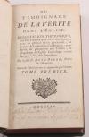 P. de la Borde - Du témoignage de la vérité dans l église - 1754 - Photo 1, livre ancien du XVIIIe siècle