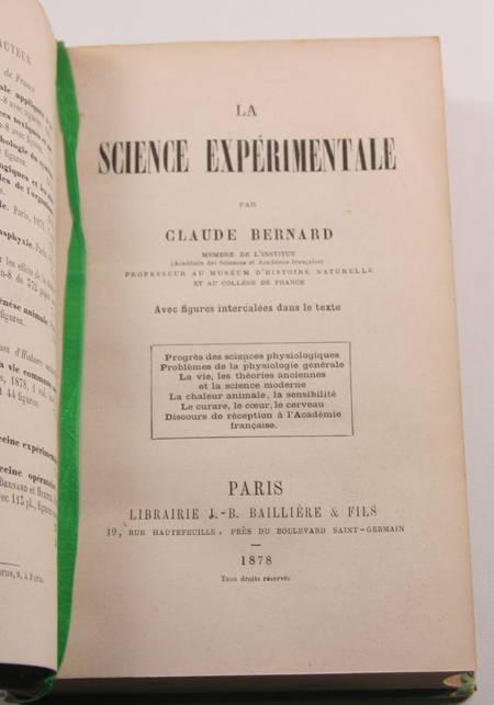 Claude Bernard - La science expérimentale - 1878 - Relié - EO - Photo 1 - livre d'occasion