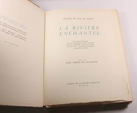 [Paris] La rivière enchantée Domaine des gens de qualité Enchantements 1949 Rare - Photo 2 - livre de bibliophilie