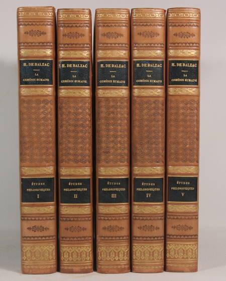 BALZAC - Etudes philosophiques - Conard 1925 - 5v - Reliures signées de Yseux - Photo 0 - livre d'occasion