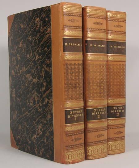 BALZAC - Oeuvres diverses - Conard 1935 - 3v - Reliures signées de Yseux - Photo 0 - livre d'occasion