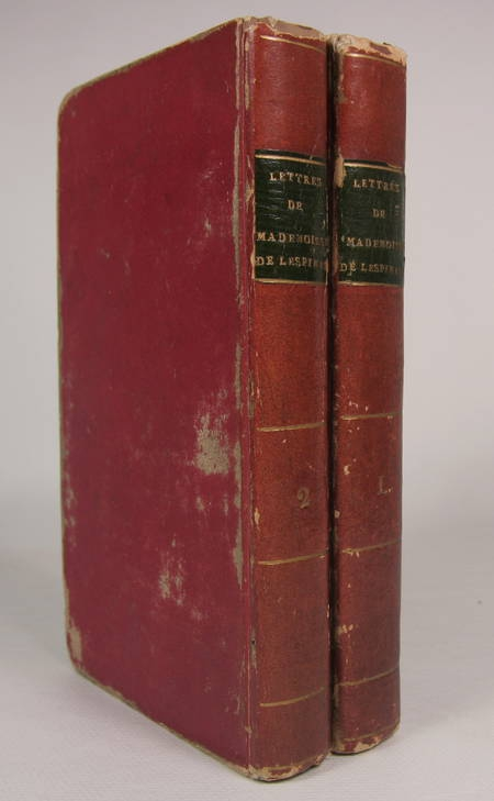 Lettres de mademoiselle de Lespinasse - 2 volumes - 1815 Opuscules de d'Alembert - Photo 0 - livre de collection