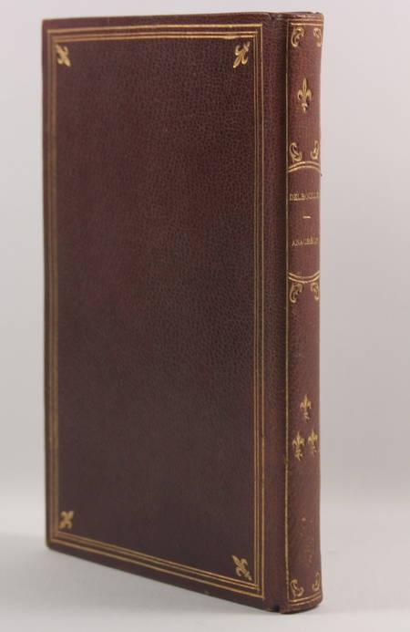 Anacréon et les poèmes anacréontiques - Delboule - 1891 - Reliure fleurdelyssée - Photo 0 - livre de bibliophilie