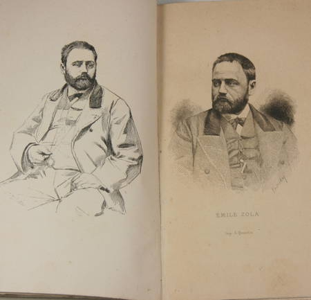 Emile Zola par Paul Alexis + par Guy de Maupassant - 1882 et 1883 - Portraits - Photo 0 - livre de collection