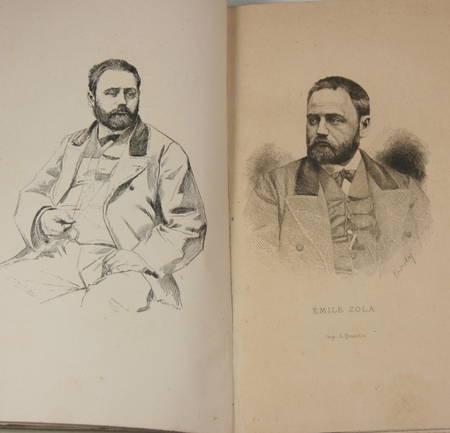 Emile Zola par Paul Alexis + par Guy de Maupassant - 1882 et 1883 - Portraits - Photo 0 - livre du XIXe siècle