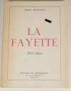 DOUSSET (Emile) - La Fayette - 1757-1834 - 1953 - Photo 0 - livre de collection