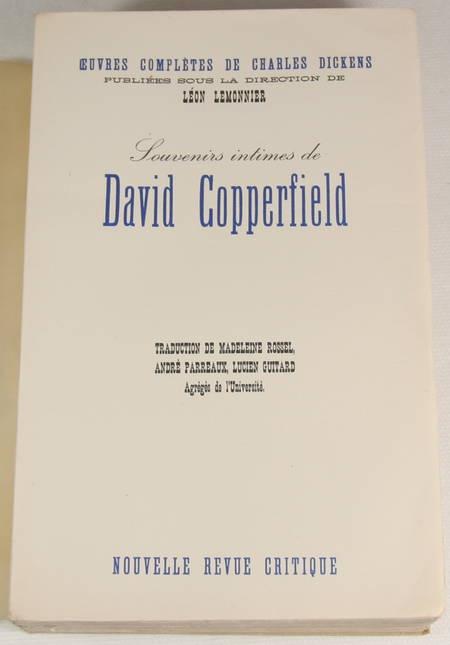 DICKENS (Charles) - Souvenirs intimes de David Copperfield - NRC - 1938 - Photo 0 - livre de collection