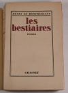 Montherlant - Les bestiaires - 1926 - Eo numéroté sir Alfa - Photo 0 - livre de bibliophilie