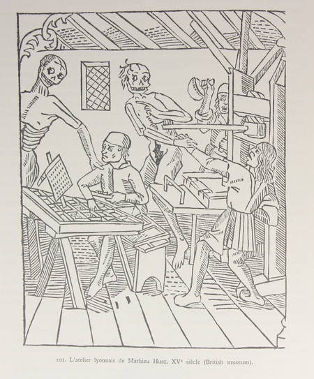 RANC (Robert), HOURS (Henri), MARTIN (Henri-Jean), AUDIN (Maurice) et TOULET (Jean). Le siècle d'or de l'imprimerie lyonnaise, livre rare du XXe siècle