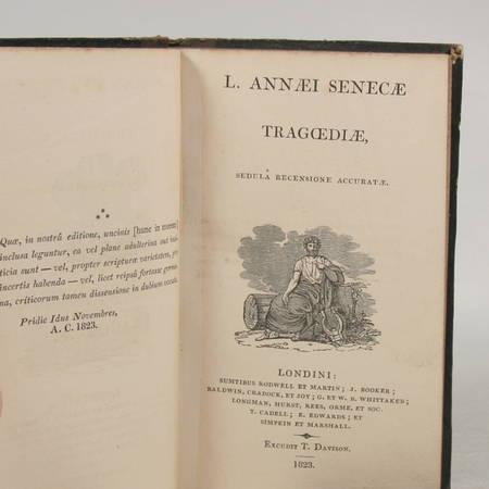 SENEQUE. L. Annaei Senecae. Tragoediae. Sedula recensione accuratae, livre rare du XIXe siècle
