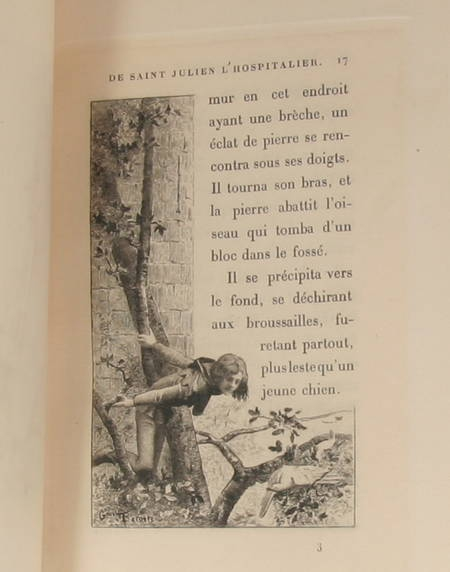 Flaubert - La légende de St Julien l'Hospitalier - Flaubert 1912 Relié - 2 états - Photo 1 - livre rare