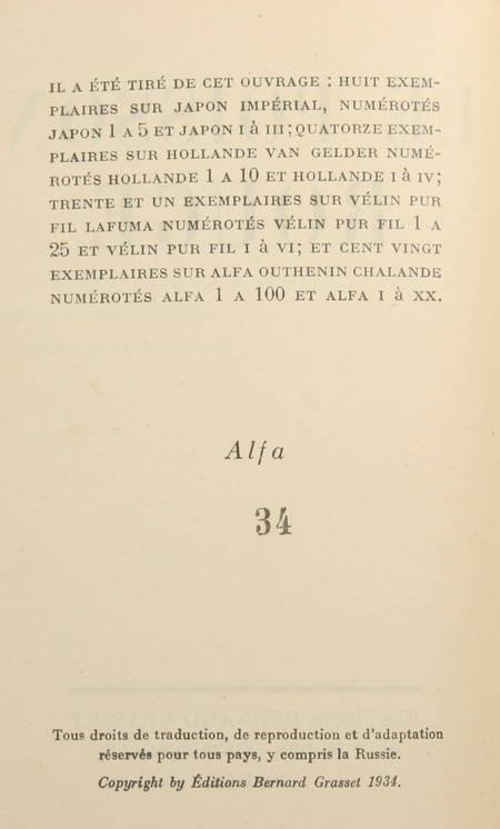 DEREME (Tristan) - Le poisson rouge - 1934 - EO 1/120 sur Alfa - Photo 1, livre rare du XXe siècle