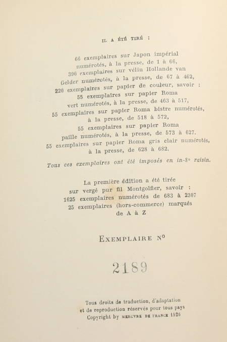 DUHAMEL (Georges) - Lettres au Patagon - 1926 - EO sur vergé Montgolfier - Photo 1 - livre de bibliophilie