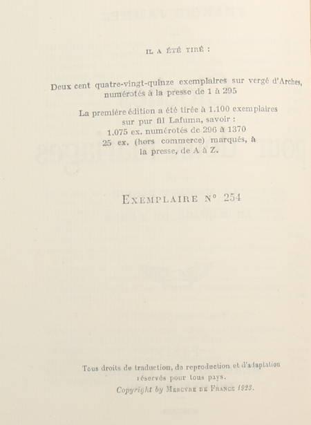 Francis JAMMES - Cloches pour deux mariages - 1923 EO sur vergé d'Arches - Photo 1 - livre rare