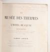 LENOIR Musée des thermes et de l hôtel de Cluny - Documents sur la création 1882 - Photo 0 - livre de collection