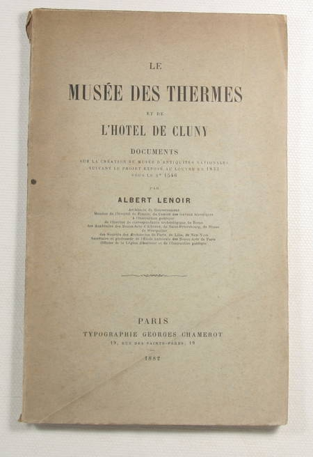 LENOIR Musée des thermes et de l'hôtel de Cluny - Documents sur la création 1882 - Photo 1 - livre de collection