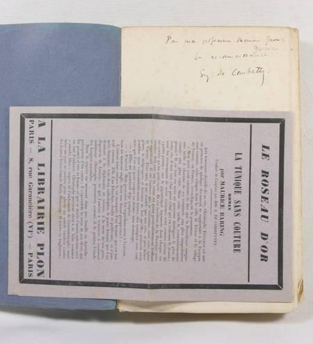BARING (Maurice). La tunique sans couture, livre rare du XXe siècle