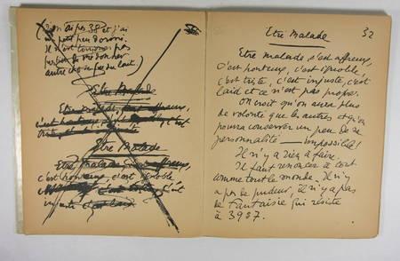 La maladie par Sacha Guitry, Maurice de Brunoff [1914] Reproduction du manuscrit - Photo 1 - livre d'occasion