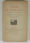 PERRAULT (Charles). Contes de Perrault en vers et en prose, publiés d'après les éditions originales avec une introduction par Emile Henriot