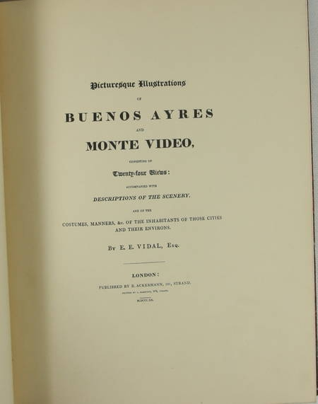 VIDAL - Buenos Ayres and Monte Video. 1820 (1943) - Photo 3 - livre de collection