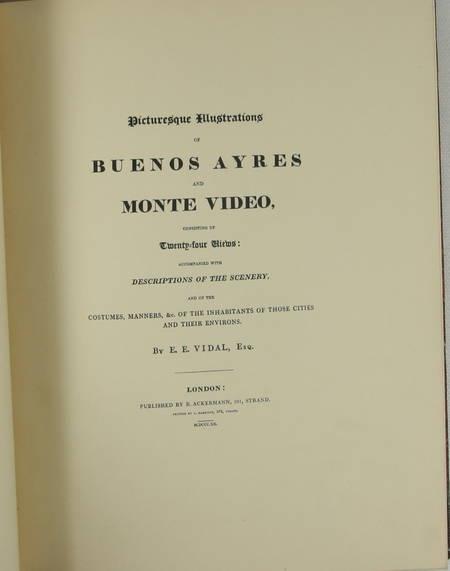 VIDAL - Buenos Ayres and Monte Video. 1820 (1943) - Photo 3 - livre de collection