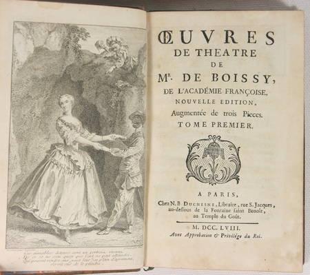 Théâtre de Mr. de BOISSY - 1758 - 9 volumes in-8 reliés - Frontispice - Photo 1 - livre du XVIIIe siècle