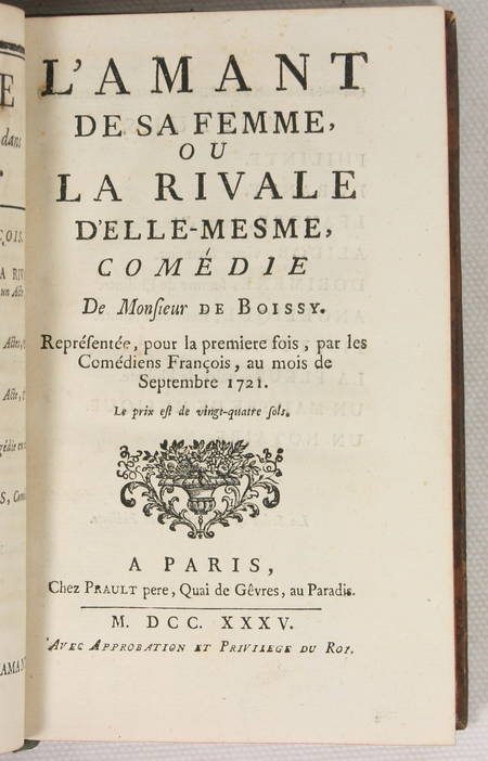 Théâtre de Mr. de BOISSY - 1758 - 9 volumes in-8 reliés - Frontispice - Photo 4 - livre du XVIIIe siècle