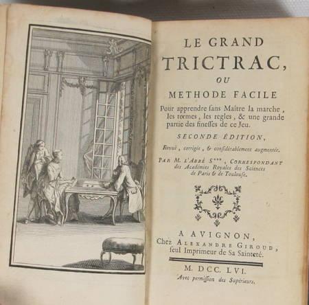 [Jeux] SOUMILLE - Le grand trictrac - 1756 - Relié - Figures - Photo 3 - livre de bibliophilie