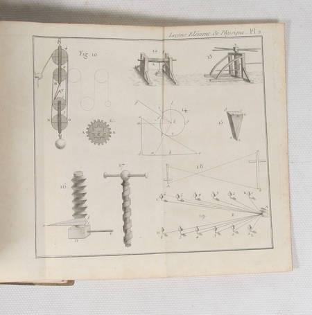 COTTE Leçons de physique, d'hydrostatique, d'astronomie et de météorologie 1798 - Photo 1 - livre rare