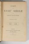 Edmond et Jules de GONCOURT - L art du XVIIIe siècle - 1902 - 3 volumes reliés - Photo 1 - livre d occasion